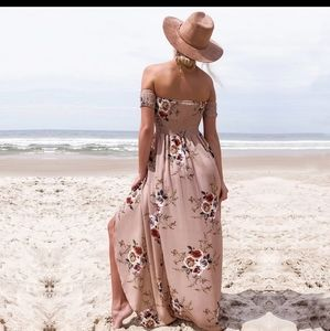*coming soon* Smocked Floral off shoulder sundress
